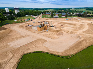 Ariel photo of new Markdale hospital build